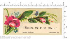 4391 Boston 99 Cent Store trade card, Rutland, VT, lily of the valley flower