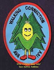 LMH PATCH Badge WALKING CONNECTION  Walk Club AVA IVV Volkssport OR Corn Cartoon