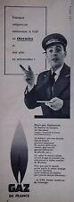 PUBLICITÉ 1956 GDF MAINTENANT LE GAZ EN THERMIES ET NON PLUS EN MÈTRES-CUBES