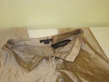 Lafayette148 pure row silk gold metallic pant size 6