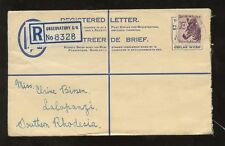 SOUTH AFRICA 1958 LION 6c REGIST.STATIONERY OBSERVATORY CK to LALAPANZI