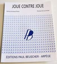 Partition moderne sheet music JACQUES PLANTE : Joue Contre Joue * 40's Verchuren