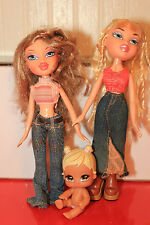 3 Bratz MGA Cloe & Babyz Dolls- Loose, jeans nice condition