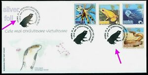 2017 Animals,Golden Poison Frog,Desert Taipan,King Cobra,Octopus,Romania,7308FDC