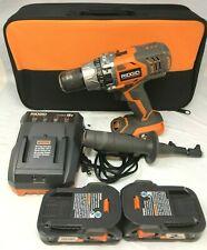 Ridgid R86116K 18V BRUSHLESS Compact Hammer Drill Driver Combo Kit Set, ZX174
