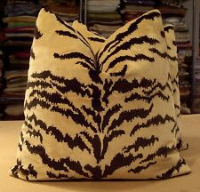 "RARE LUIGI BEVILACQUA / FORTUNY ORO ANTICO ""TIGRE"" VELVET FABRIC CUSTOM PILLOWS"