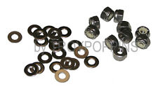 SS 10-#8-32 FINE HEX NYLOC LOCK NUTS & 20-#8 FLAT WASHERS STAINLESS STEEL 18-8