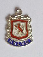 Kelso Scotland vintage sterling silver enamel travel charm