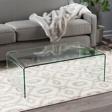 Tempered Glass Coffee Table, Clear, Brand New!