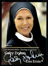 Gaby Dohm Um Himmels Willen Autogrammkarte Original Signiert## BC 9039