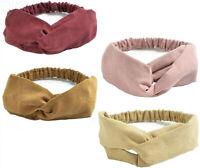 ZYCC 4 Pcs Turban Headbands Boho Floral Knot Cotton Elastic Headwrap Group 1