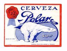 Cuba - Beer Label - Cervecera Miguel a Oramas - Cerveza Polar