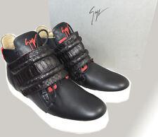 Giuzeppe Zanotti High Top Sneakers Foxy London Birel Vague Black Leather Shoe 45