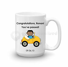 Personalised Congratulations Passed Driving Test Gift Large Mug For Men Boys #2