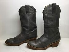 VTG MENS ACME DINGO COWBOY LEATHER GREENISH BOOTS SIZE 9.5 D