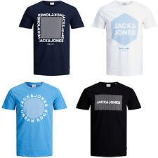 Jack & Jones T-Shirt Mens Cotton Short Sleeve Chest Logo Print Crew Neck Tee