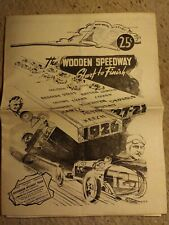 Auto Racing History: The Wooden Speedway, Start to Finish