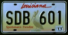 LOUISIANA WILDLIFE PELICAN BIRD SPORTSMAN DISCONTINUED LA Graphic License Plate