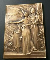 1900 OLYMPIC Paris XRARE ART NOUVEAU FRENCH BRONZE MEDAL ANGELS  by F. VERNON
