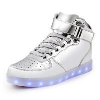 SAGUARO Men Women LED Shoes Light Lace Up Luminous Sneaker Sportswear Trainers