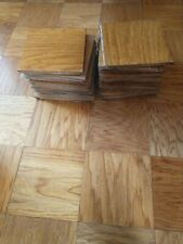"""Reclaimed Oak Parquet Tile Flooring-12 Tiles-FREE SHIPPING-Size-9""""x9""""-1/2"""" thick"""