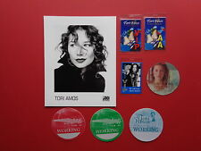TORI AMOS,promo photo,7 different Backstage passes,RARE Originals,Various Tours