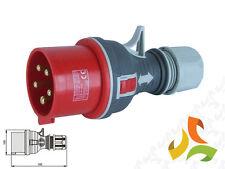 Red 400V 32A 5 Pin Trailing Plug 3pin +N+E 3 Phase commando plug