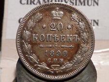 8CL(424) - RUSSIE - 20 KOPECK - ARGENT - 1890 - RARE & QUALITE TTB !