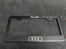 Audi License Plate Frame - Carbon Fiber