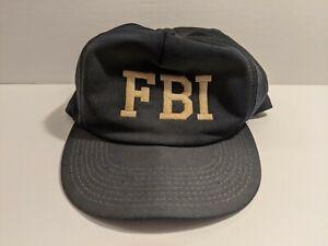 Vintage Trucker 1980s M&B Headwear FBI Field Blockhead Navy Blue Snapback Hat