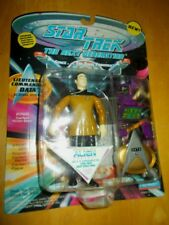 "1993 Mint Nrfb Star Trek Playmates 4 1/2"" Lt. Commander Data ~ gear & base"