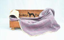 TWEED & FLEECE DOG BLANKET CREATE LINER PINK SASHA TWEED X SMALL 33 by 26 cms