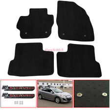 Fits 10 11 12 13 Mazda 3 Floor Mats Carpet Nylon Black  Mazdaspeed Metal Emblem
