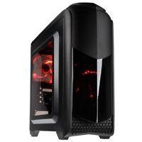 Kolink Aviator M Micro ATX Tower Red LED USB 3.0 Desktop PC Gaming Case Black