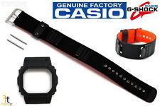 CASIO DW-5600B-1AV G-Shock Original Black BAND & BEZEL Combo