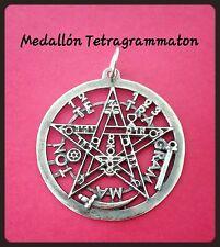 925 Sterling Silver Tetragrammaton eliphas Pendant   pentagrama esoterico plata