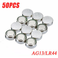 50pc1.5V LR44 Alkaline Coin Button Cells Battery A76 L1154 AG13 357 Usable