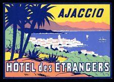 Hotel des étrangers - Ajaccio (14 cm) - étiquette valise - Luggage Label