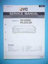 instrucciones Manual de servicio para JVC RX-222 ,ORIGINAL