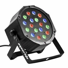 Eyourlife Stage Light 1PCS 18 X 3W LED DJ Par Lights 54W RGB PAR64 DMX512 (AB)
