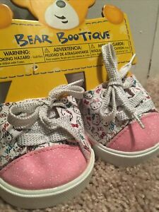 BABW Build a Bear Shoes - Hello Kitty Sparkle Sneakers Shoes HK Glitter✨- VHTF