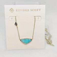 New Kendra Scott Margot Pendant Necklace In Green Sea Chrysocolla / Gold
