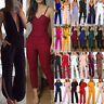 Damen Mode Jumpsuit Playsuits Rompers Cocktail Overall Einteiler Lang Hosenanzug
