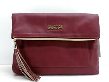Kenneth Cole Reaction Tiber Crossbody Handbag Burgundy Red New!