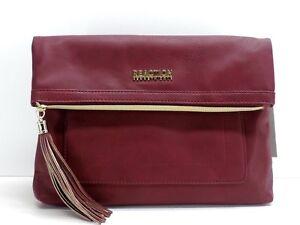 Kenneth Cole Reaction Tiber Foldover Crossbody Handbag Red New!