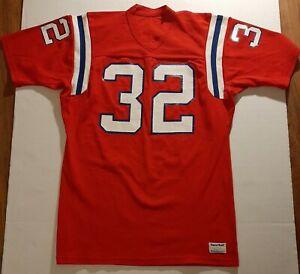 Vintage Boston New England Patriots #32 Sand-Knit jersey Adult Size Large L USA