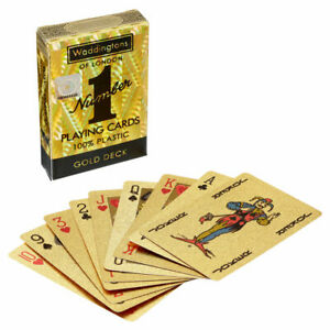Waddingtons GOLD Playing Cards with cool HOLOGRAPHIC effects
