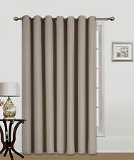 "1PC PATIO DOOR 14 GROMMETS WINDOW PANEL CURTAIN THERMAL BLACKOUT TAUPE 100""W"