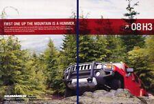 2008 Hummer H3 - Mountain - Original 2-page Advertisement Print Art Car Ad K64