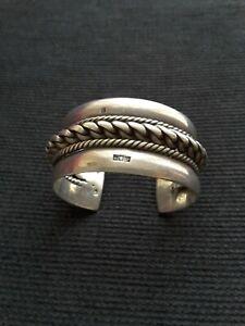 Bracelet argent manchette jonc Egypte bédouin  108 gr